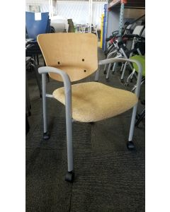 Haworth Improv Mobile Side Chair (Faded Yellow)