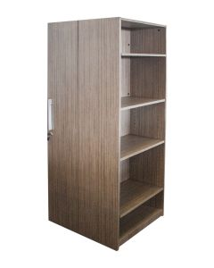 "66""H Wardrobe Tower (Mocha Laminate)"