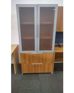 """73""""H Lacasse Storage Cabinet (Cherry Laminate)"""