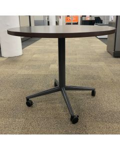3' Allsteel Round Teaming Table (Mahogany)