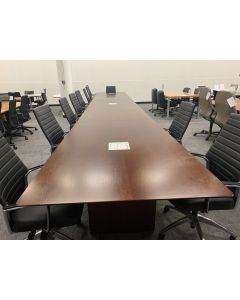 "319"" Rectangular Conference Table (Cherry Veneer)"