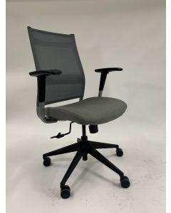 SitOnIt Wit Task Chair (Blue Grey/Grey Stich)