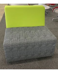 Steelcase Turnstone Campfire Lounge Chair (Yellow/Grey Patterned)