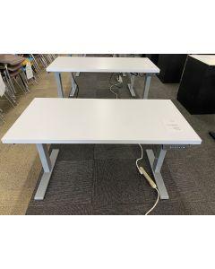 4' Rectangular Adjustable-Height Table Desk (White)