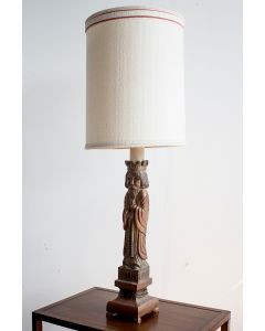 Carved King Lamp