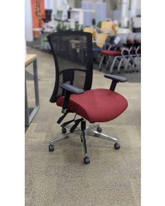Global Vion Task Chair (Crescent Ruby/Black Mesh)