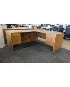 L-Shaped Desk (Maple Laminate) LH