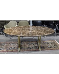 6.5' Oval Conference Table (Brown Marble)