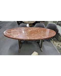6.5' Oval Conference Table (Pink Marble)