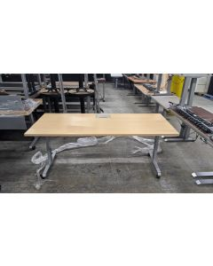 Rectangular Training Table w/ Power (Maple)