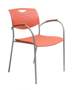Allseating Ayr Stack Chair (Flame/Silver)