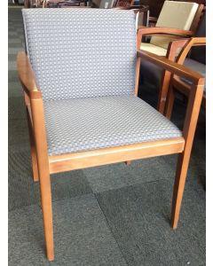 Steelcase Walnut Wood Side Chair