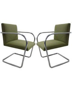 Knoll Brno Tubular Side Chair (Hudson Olive Heather)