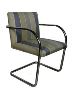 Knoll BRNO Tubular Side  (Light Blue Striped)