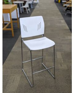OfficeSource Rise Stool (White)