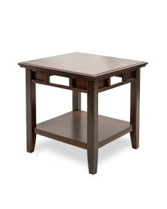 2' Two-Tier Mahogany Veneer Side Table