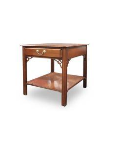 """21"""" Bernhardt Cherry Veneer Two-Tier Rectangular Side Table"""